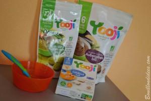Yooji alimentation bébé sans gluten, sans PLV bio diversification Bouillondidees