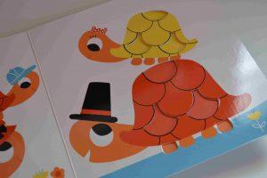 Livres à toucher premiers livres bébé La famille Tortue (Petit Nathan) Bouillondidees 3