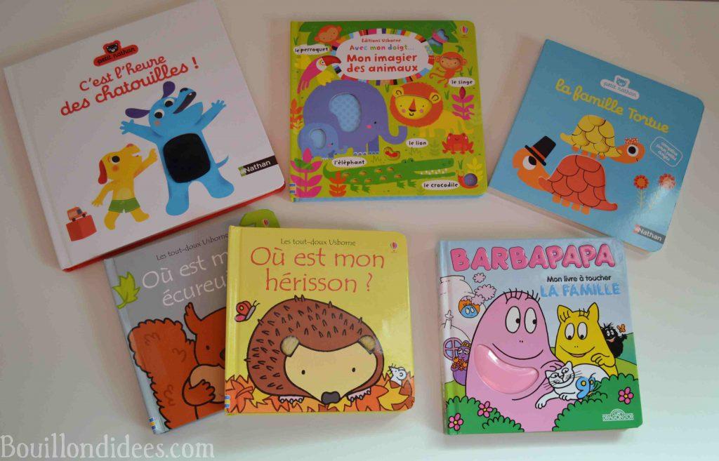 Nos idées de lecture : Livres à toucher, premiers livres de bébé (Bouillondidees)