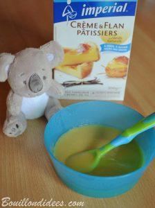 Desserts au lait infantile (Modilac Riz AR) pour bébé APLV IPLV, sans lait, sans gluten crémé Impérial Bouillondidees