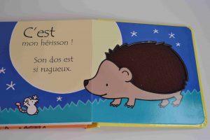 Livres à toucher premiers livres bébé Où est mon hérisson (éditions Usborne) Bouillondidees2