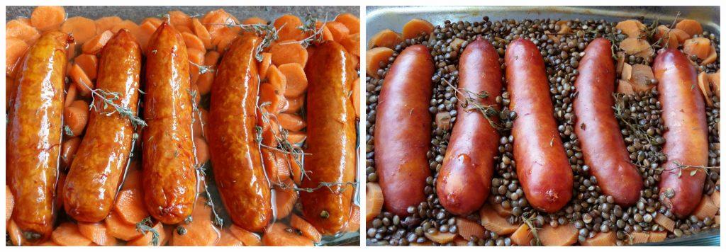 Omnicuiseur, four basse température lentilles saucisses sans gluten sans lait Bouillondidees