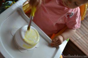 Bledina fete les papas DIY Fête des pères peinture bledichef