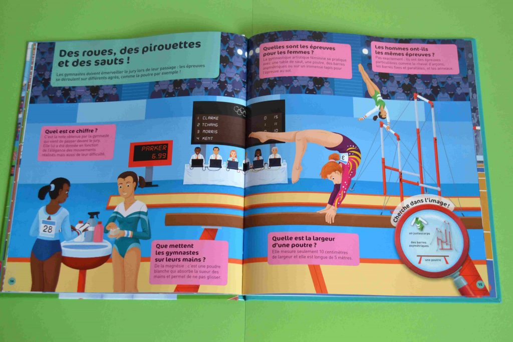 Idées lecture Vive les jeux Olympiques (Questions Réponses, Nathan)