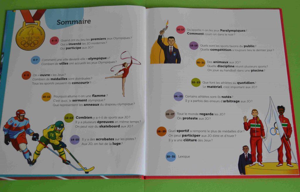 Idées lecture Les Jeux Olympiques (Questions Réponses, Nathan)