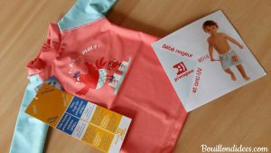 Profiter du soleil avec bébé Tee shirt Top anti UV bébé Piwapee Bouillondidees