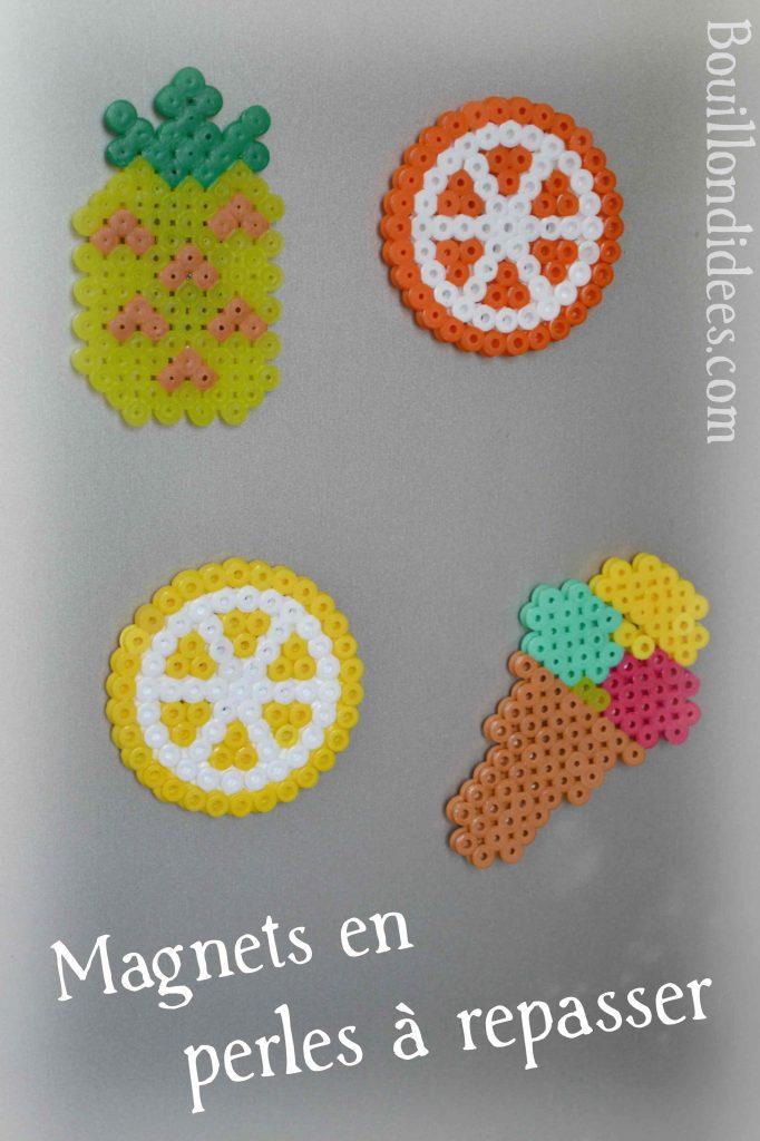 DIY Magnets frigo en perles à repasser HAMA Bouillondidees