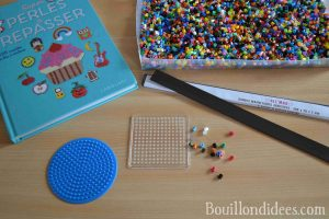 DIY Magnets frigo en perles à repasser HAMA matériel Bouillondidees