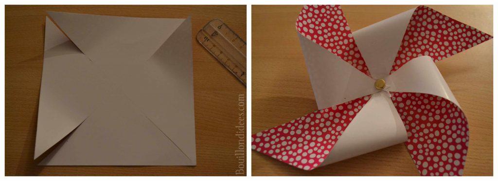 Fabriquer des moulins à vent en papier (DIY fête d'été)