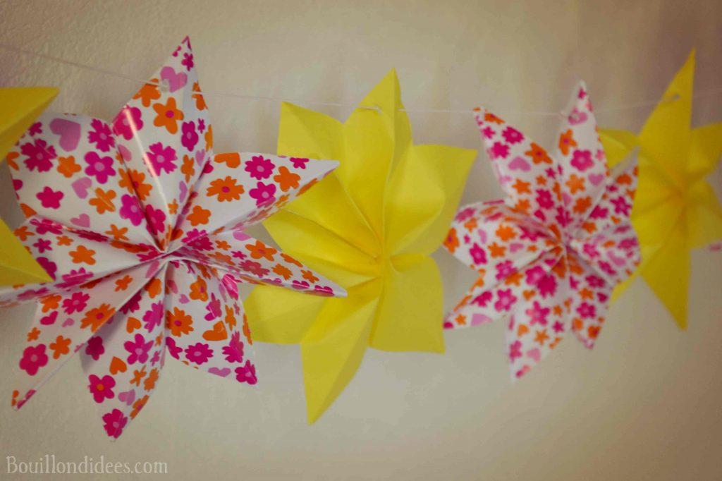 Fabriquer une guirlande Etoiles (DIY Fête d'été)