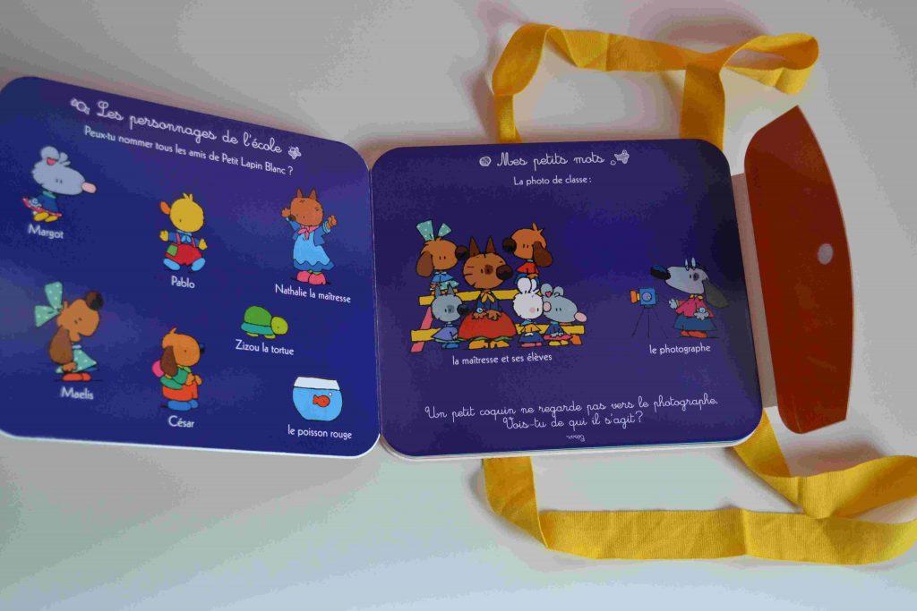 Petit Lapin Blanc - mon imagier de l'école (Gautier-Languereau) - livres pour la rentrée, l'école