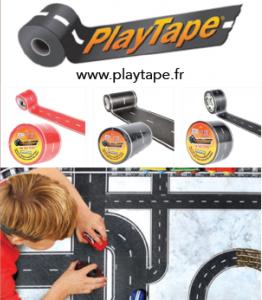 """Le Play Tape, le Masking Tape version """"route et voie ferrée"""""""