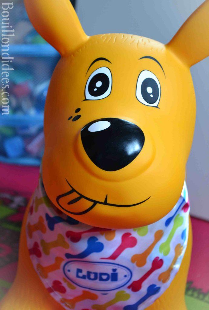 Test le chien sauteur de LUDI - jouet premier âge motricité
