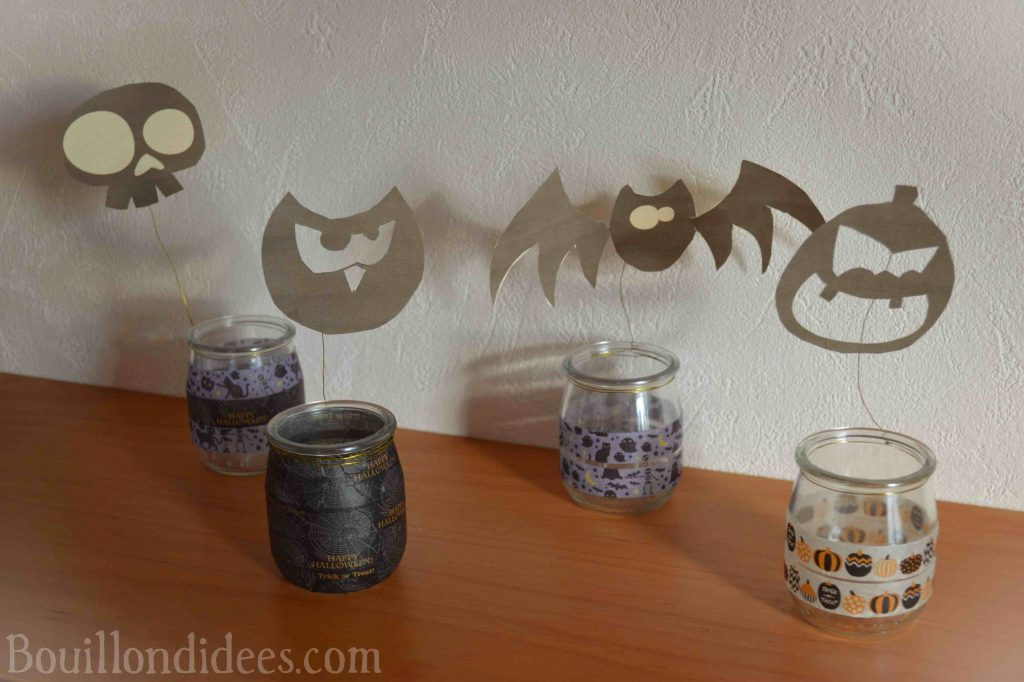 DIY Photophores d'Halloween aux ombres monstrueuses