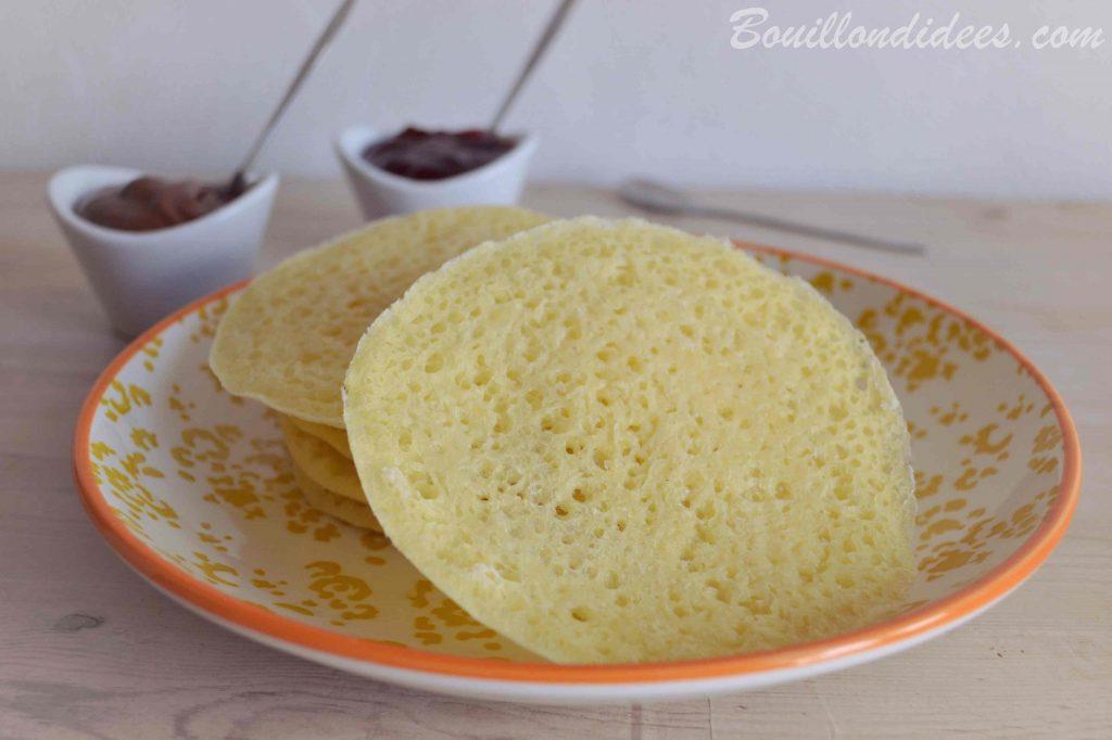 Crêpes Mille trous sans GLO (sans gluten, sans lait, sans oeuf - vegan)