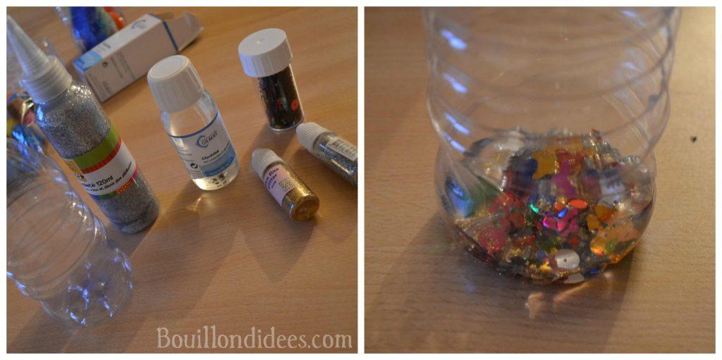 Fabriquer des bouteilles sensorielles pour bébé (DIY Montessori)