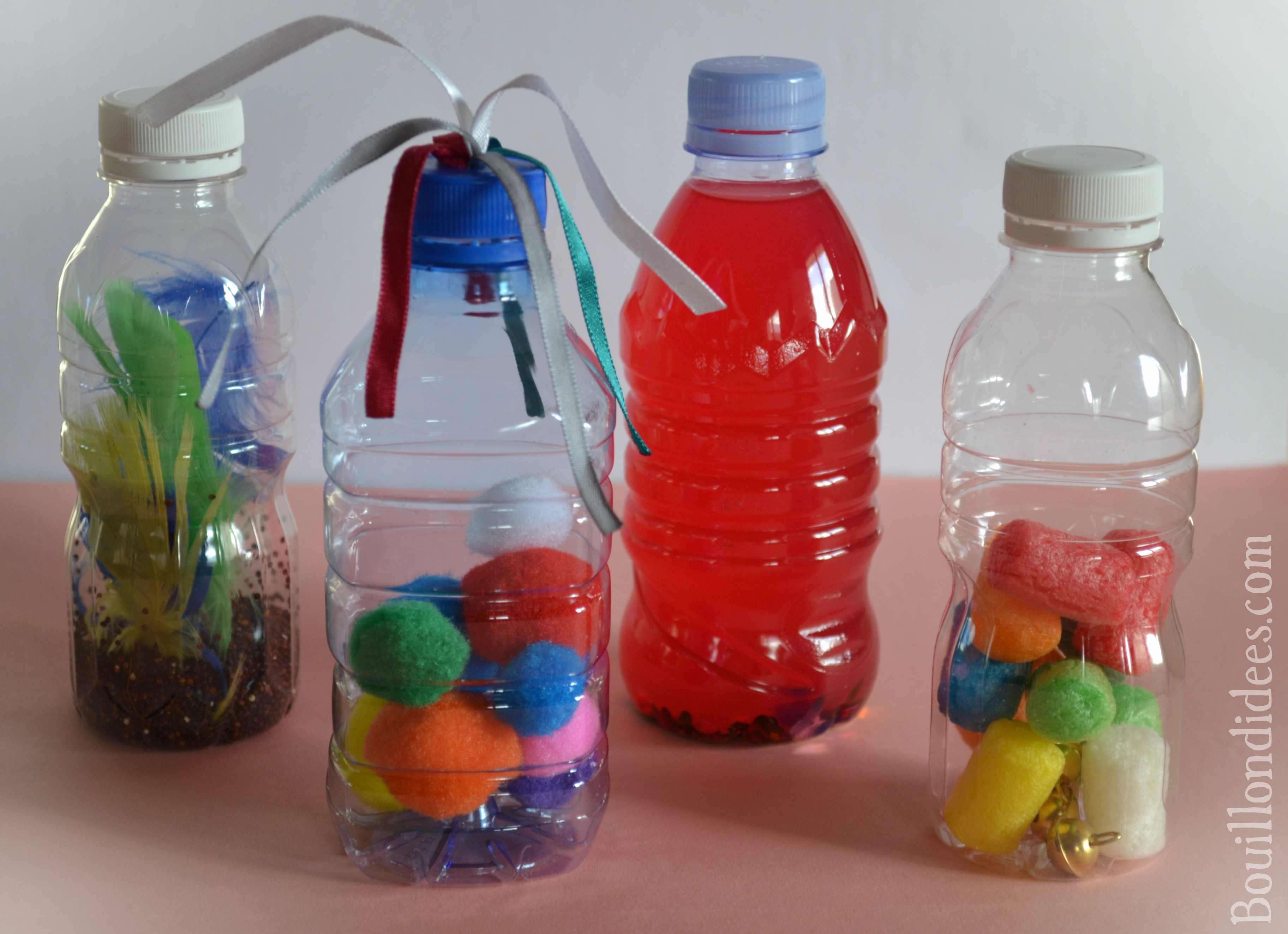 fabriquer des bouteilles sensorielles pour b b diy montessori. Black Bedroom Furniture Sets. Home Design Ideas