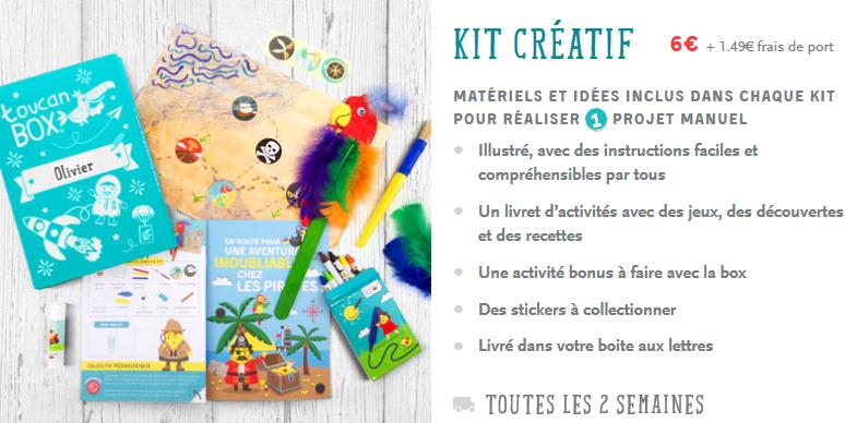 Toucanbox, une box créative, ludique et éducative - Kit d'activités pour enfants (Test & Avis) - Bouillondidees