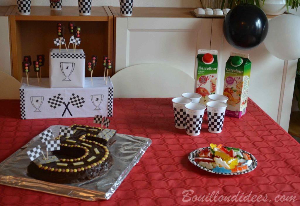 Un anniversaire sur le thème de Cars & des courses de voiture