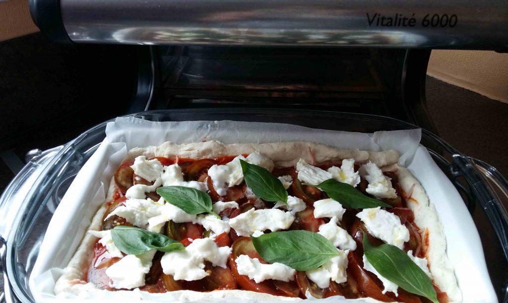 Pizza moelleuse sans GLO (sans gluten, sans lait, sans œuf), à l'Omnicuiseur - blog Bouillon d'idées