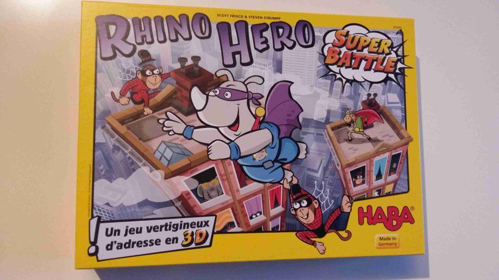 RhinoHeroSuper Battle- HABA-  LEjeu d'adresse familialà offrir à Noël Bouillondidees