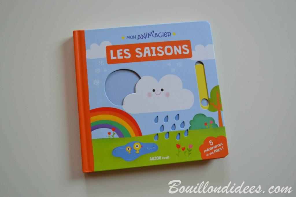 Nos idées Lecture : Mon anim'agier, Les saisons (Editions Auzou) - Bouillon d'idees (livre jeunesse)