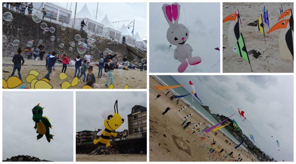 Un séjour en Bretagne sous le soleil (et sans gluten !) - festi val vent cersf volants Pleneuf val André - blog Bouillondidees
