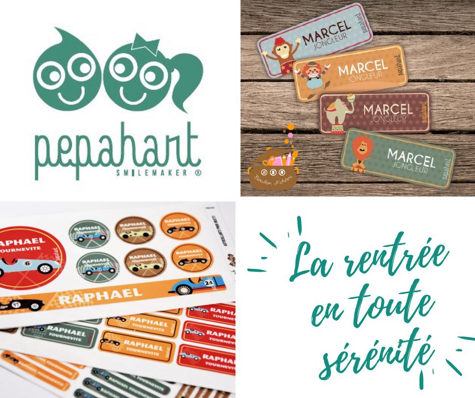 Les étiquettes Pepahart (vêtements et allergies) pour une rentrée en toute sérénité Blog Bouillondidees