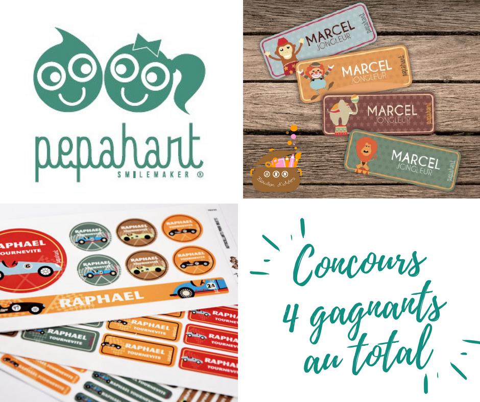 Concours étiquettes  Pepahart pour une rentrée en toute sérénité  - Blog Bouillondidees