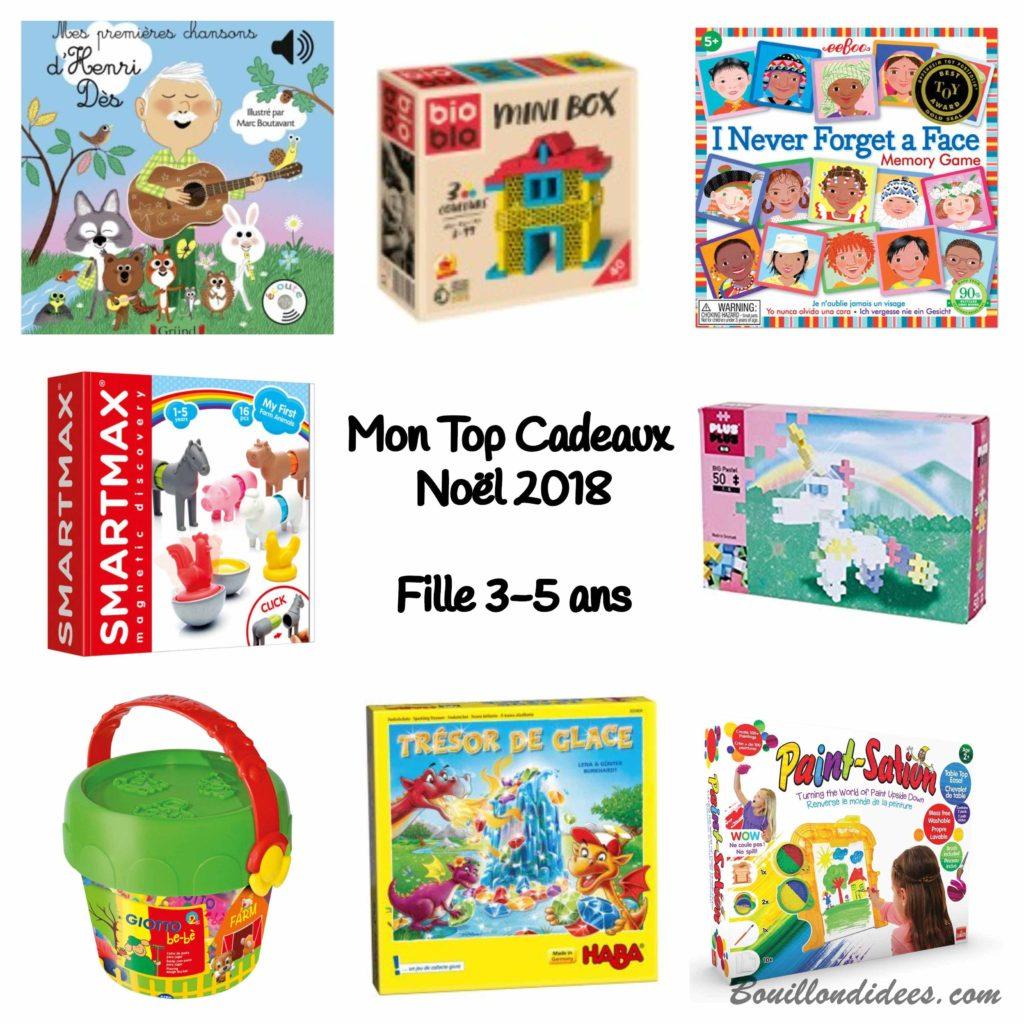 Mon Top Cadeaux de Noël 2018, pour filles 3-5 ans - Blog Bouillondidees