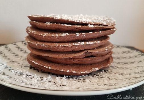 Pancakes sans GLO (sans Gluten, sans Lait, sans Oeuf) tout choco - recette vegan et sans gluten