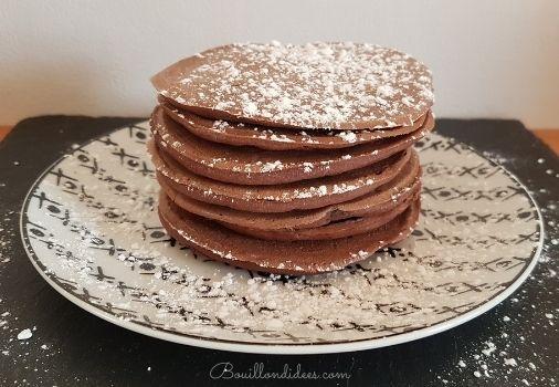 recette de Pancakes sans GLO (sans Gluten, sans Lait, sans Oeuf) tout choco