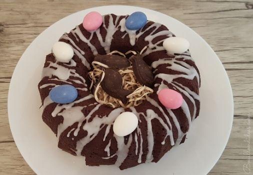 Recette de Pâques sans GLO  Gâteau Nid de Pâques tout choco  Bouillondidees