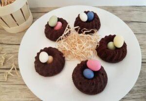 Recette de Pâques Mini-Nids de Pâques vegan et sans gluten Bouillondidees