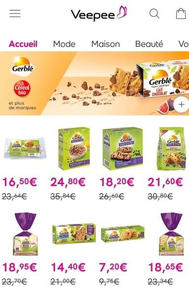vente privée Gerblé sans gluten sur Veepee