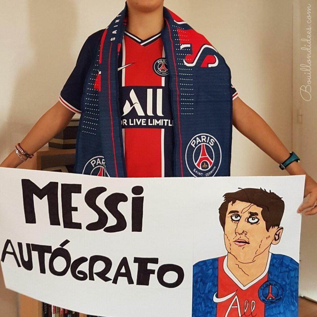 fan de lionel messi PSG