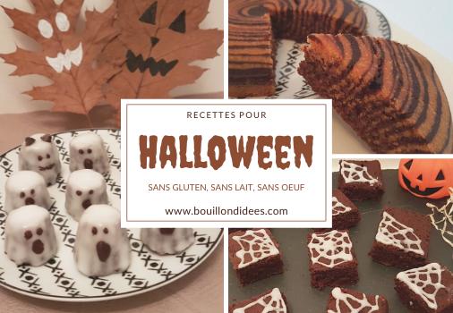 Recettes pour un goûter d'Halloween sans gluten & cie
